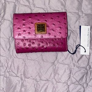 Dooney & Bourke Leather Flap Wallet & coin holder